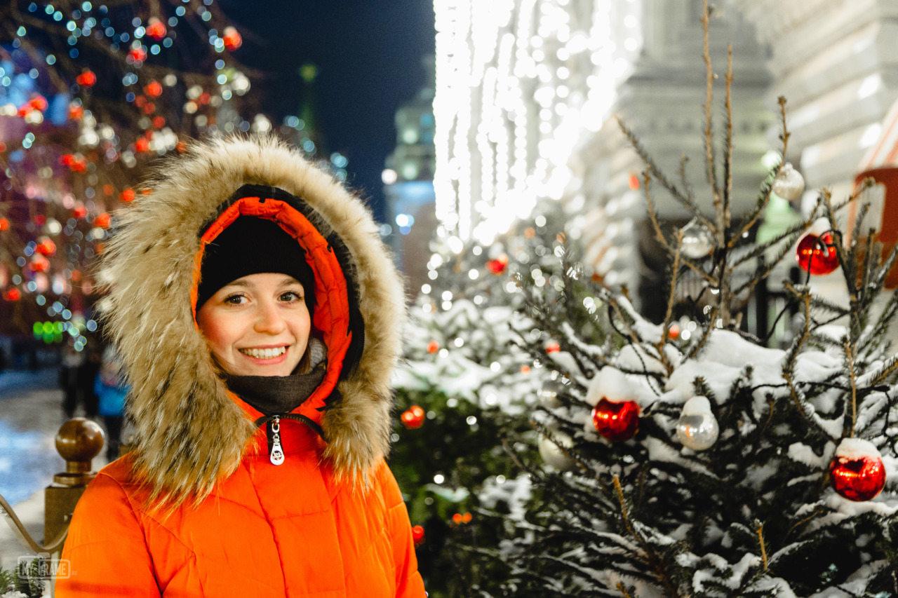 Снежа в новогодней Москве
